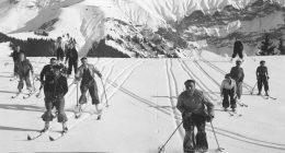 Skieurs à Megève dans les années 1930